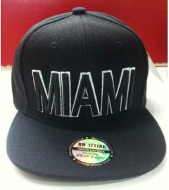 BW ATTIRE: MIAMI Premium Snapback Cap, Flat Brim - Assorted Colors