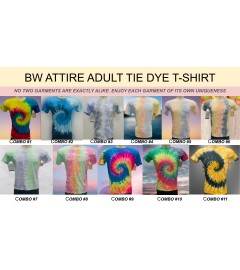 BW ATTIRE TIE DYE T-SHIRTS ASSORTED COLORS & SIZES S TO XXL