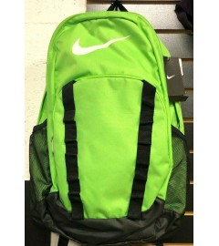 NIKE: Unisex Book Bag with Padded Laptop Space - Black/Lime