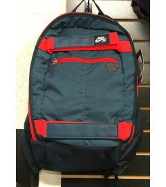 NIKE: Unisex Book Bag with Padded Laptop Space - Black/Red/Navy