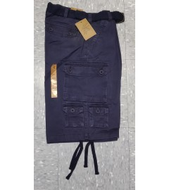American Solace: Men's Solid Cargo Shorts (WASH GARMENT) - Navy