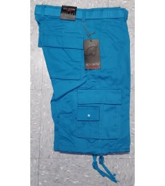 Best Cotton: Men's Solid Cargo Shorts - Teal