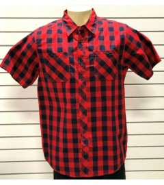 BLEECKER & MERCER: MEN'S CASUAL SLIM FIT SHIRT - RED