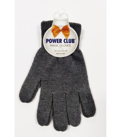 POWER CLUB: Plain Magic Gloves, One Size fits All - Heather Grey