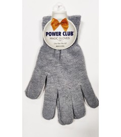 POWER CLUB: Plain Magic Gloves, One Size fits All - Light Grey
