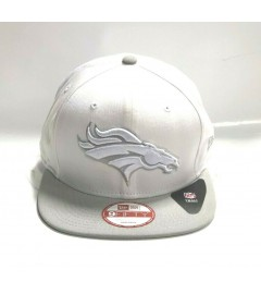 New Era Snapback: Denver Broncos, White/Grey