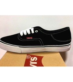 LEVI'S: JORDY 3 SHOES WITH STITCHES (516641-06A) - BLACK/WHITE - VARIOUS SIZES AVAILABLE