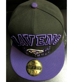 New Era Fitted: Baltimore Ravens, Purple/Black