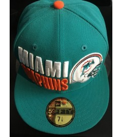 New Era Fitted: Miami Dolphins, Teal