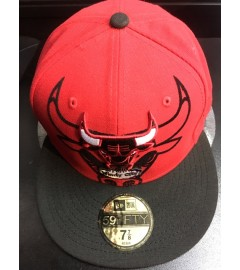 New Era Fitted: Chicago Bulls, Red/Black