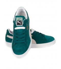 PUMA SUEDE GREEN-WHITE